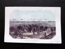 Thomson Holy Land 1863 Antique Print. Garden of Gethsemane
